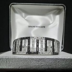 Genuine Marcasite Cuff Bracelet